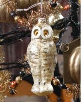 Ragon House Silver Mercury Glass Owl Ornament