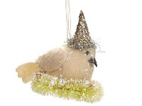 Ragon House Bird On Wreath Ornament