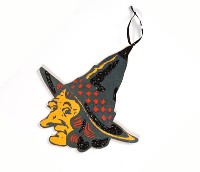 Ragon House Flat Witch Head Ornament