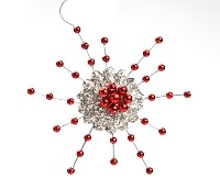 Ragon House Red Snowflake Ornament