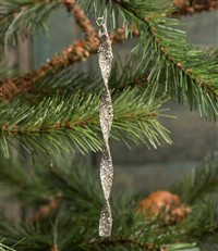 Silver Twisted Ornament Set