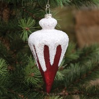 Red Triangle Icicle Ornament