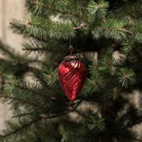 Ragon House Red Spiral Glass Ornament