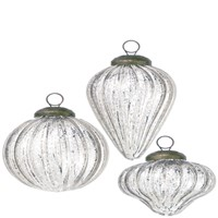 Silver Mercury Glass Mini Shapes Ornament