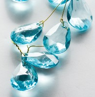 Aqua Clear Bead Garland