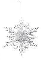 Snowflake Icy Ornament