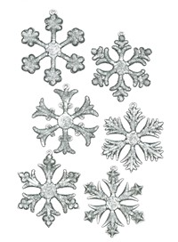 Snowflake Ice Ornaments