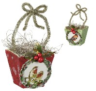 Bird Basket Ornament