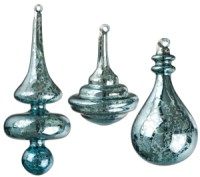 Aqua Mercury Glass Ornaments