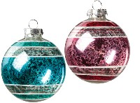 Round Mercury Glass Ball Ornament