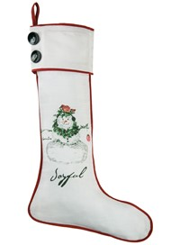 Cynthia Dunn Snowman Stocking