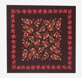 moda Autumn Leaves Napkins Brown