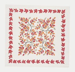 moda Autumn Leaves Napkins Cream