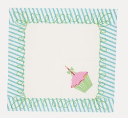 moda Happy Birthday Napkins Blue