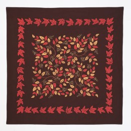 moda Autumn Leaves Tablecloth Brown