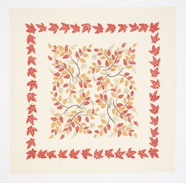 moda Autumn Leaves Tablecloth Cream