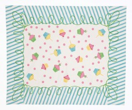 moda Happy Birthday Tablecloth Blue