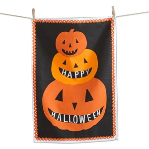 tag Stacked Pumpkin Dishtowel