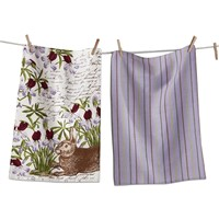 tag Botanical Bunny Dishtowel Set
