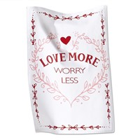 tag Love More Worry Less Dishtowel