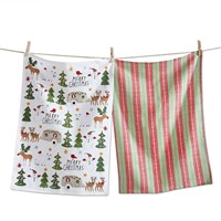 tag Holly Jolly Mix Dishtowel Set