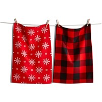 tag Lodge Snowflake Dishtowel Set