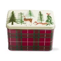 tag Woodland Tin Recipe Box